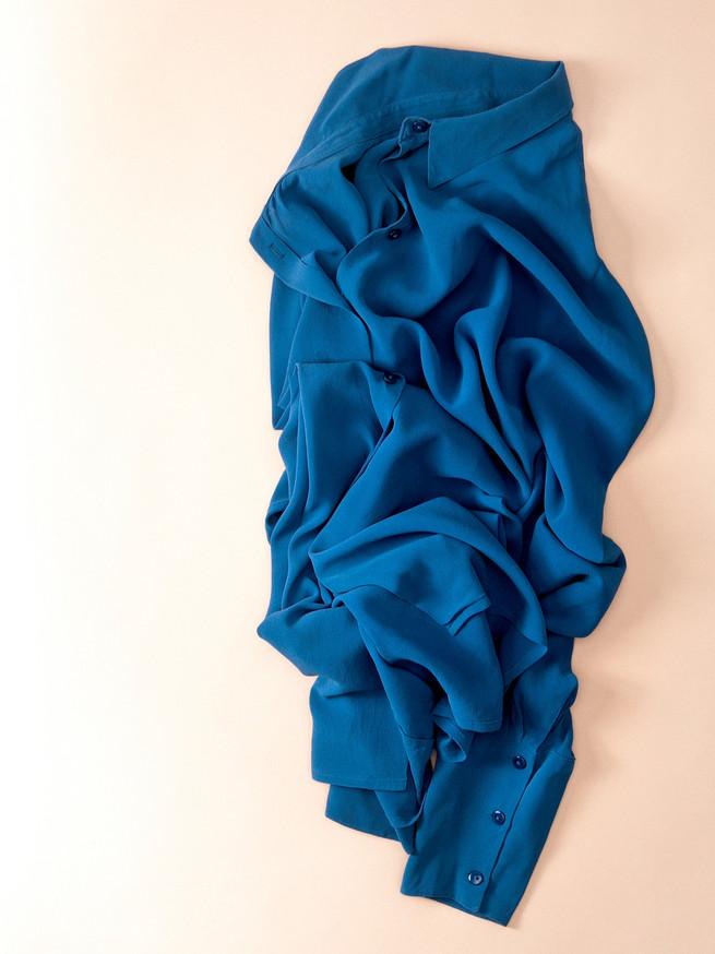 Garde robe Paysagée _ Chemise SoieTurquise