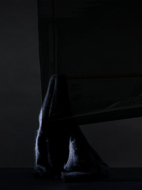 Black Mohair Jumper Half Hidden