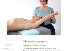 Nieuwsbrief 1: over Online Fysiotherapie en andere nieuwtjes