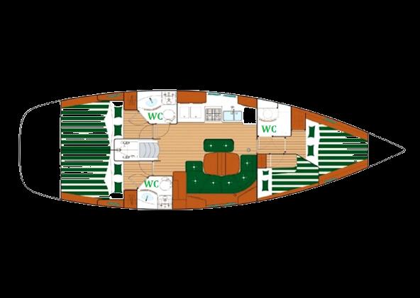 Layout SV Margarita S sailingboat