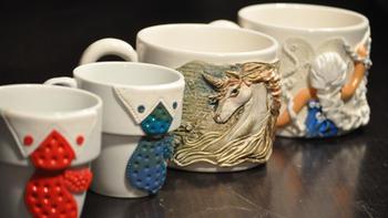 Polymer Clay Mugs Collection.JPG
