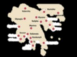 Peloponnesos kaart