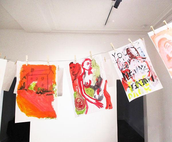 Install shot - artworks on paper .jpeg