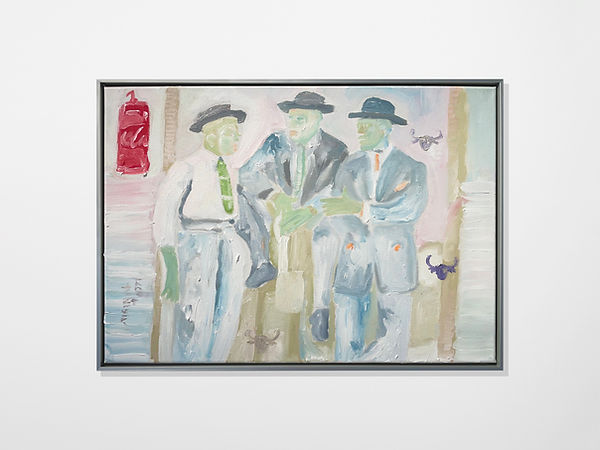 Three Amigos, Oil on canvas, 42 x 59 cm,