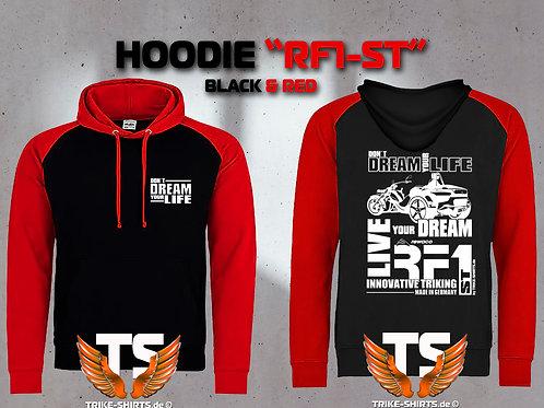 "Sweatshirt Hooded Baseball - RF1-ST ""Don´t Dream your Life"" Weißflex"