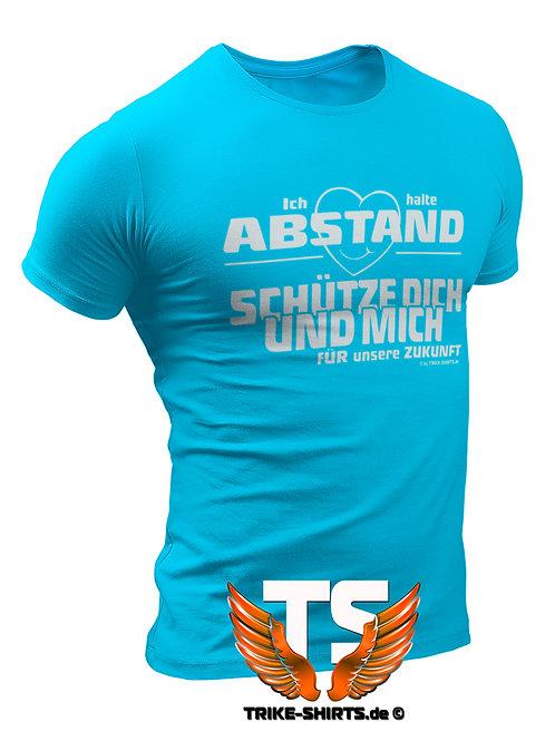 """T-Shirt Classic - """"Ich halte Abstand""""  in 10 Textilfarben"""