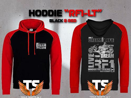 "Sweatshirt Hooded Baseball - RF1-LT ""Don´t Dream your Life"" Silberflex"