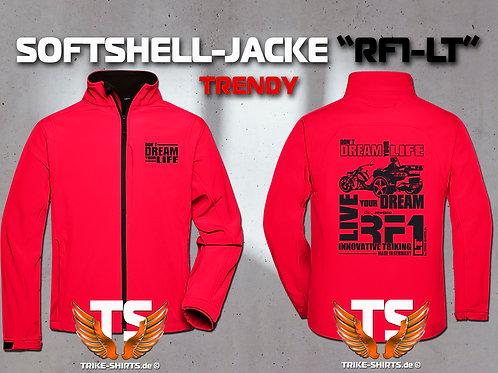 "Softshell-Jacke Trendy - RF1-LT ""Don´t Dream your Life"" 5 Textil- & 3 Flexfarben"