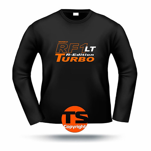 "LA-Shirt Comfort  - ""RF1 - LT-R-Edition Turbo-oÄ"" in 8 Flexfarben, 2-farbig"
