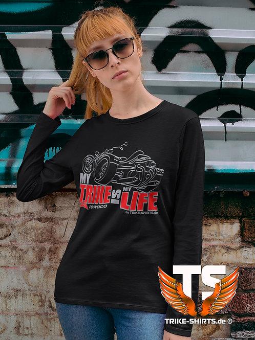 "LA-Shirt Comfort - ""My Trike is my Life"" 003LSR - 2-farbig silber-rot"