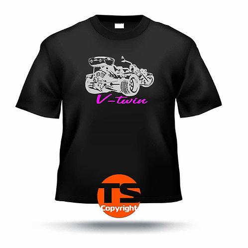 """T-Shirt Comfort - """"HS6 V-Twin mit Trike"""" #02 in 6 Flexfarben"""