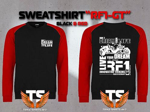 "Sweatshirt Baseball  - RF1-GT ""Don´t Dream your Life"" Weißflex"