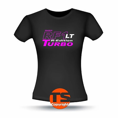 "T-Shirt Comfort - ""RF1 - LT-R-Edition Turbo"" in 8 Flexfarben, 2-farbig"