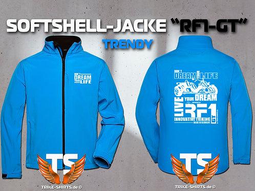 "Softshell-Jacke Trendy - RF1-GT ""Don´t Dream your Life"" 5 Textil- & 3 Flexfarben"