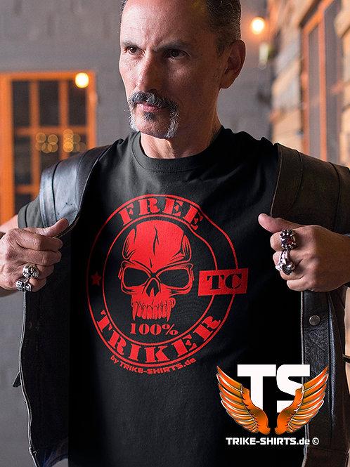 "T-Shirt Comfort - ""100% FREE TRIKER"" in 8 Flexfarben"