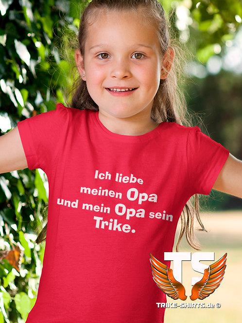 """T-Shirt Classic Kids - """"Ich liebe meinen Opa... Trike"""" in 4 Textilfarben"""