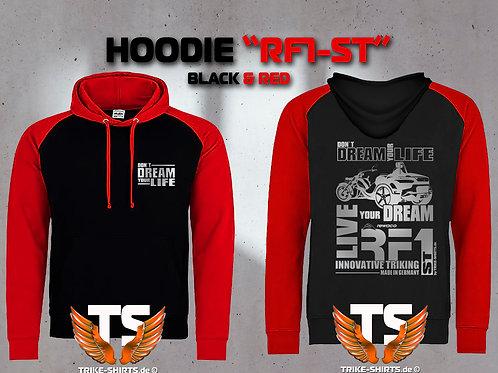 "Sweatshirt Hooded Baseball - RF1-ST ""Don´t Dream your Life"" Silberflex"