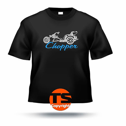 "T-Shirt Comfort - ""HS4 Chopper mit Trike"" #02 in 6 Flexfarben"
