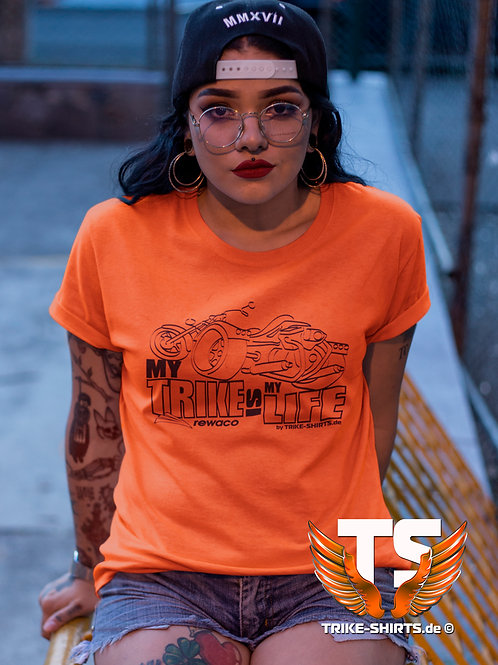 "T-Shirt Classic - ""My Trike is my Life"" 002 - in 10 Textilfarben bis 3XL"
