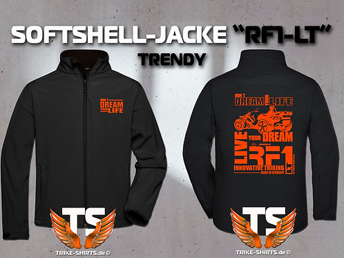 "Softshell-Jacke Trendy - RF1-LT ""Don´t Dream your Life"" 1 Textil- & 3 Flexfarben"
