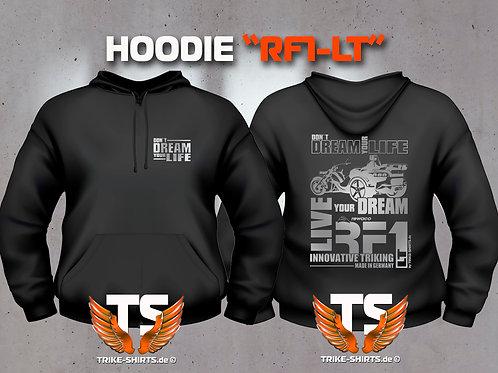 "Sweatshirt Hooded - RF1-LT ""Don´t Dream your Life"" Silberflex"