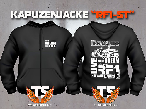 """Sweat Jacket Active - RF1-ST """"Don´t Dream your Life"""" Weißflex"""