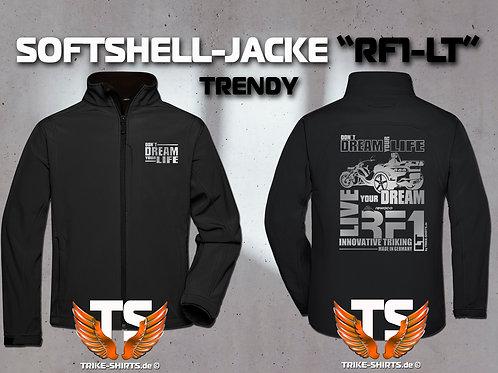"Softshell-Jacke Trendy - RF1-LT ""Don´t Dream your Life"" 1 Textil- & 3 Flexfarben"
