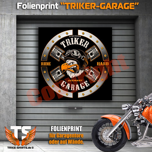 "Garagentorprint (Q) ""Eagle Trike Power"" mit Ort/Land..."