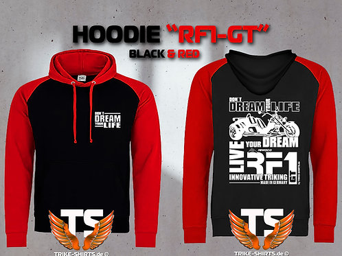 "Sweatshirt Hooded Baseball - RF1-GT ""Don´t Dream your Life"" Weißflex"