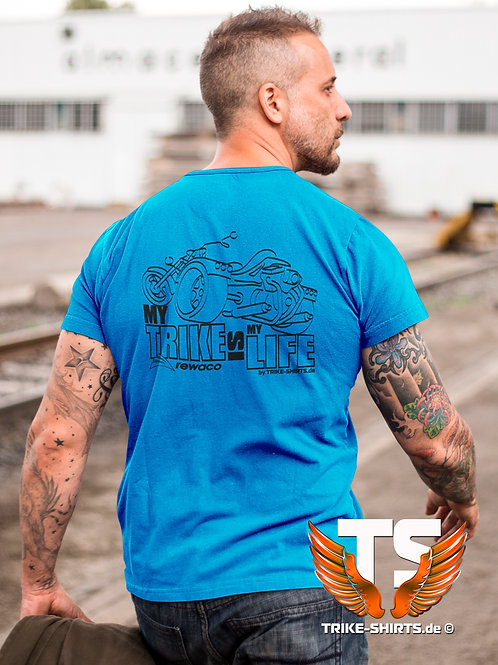 """T-Shirt Classic - """"My Trike is my Life"""" 002 - in 10 Textilfarben"""