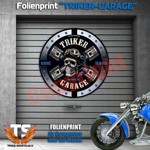 """Garagentorprint (R) """"Skull Trike Power"""" mit Ort/Land..."""
