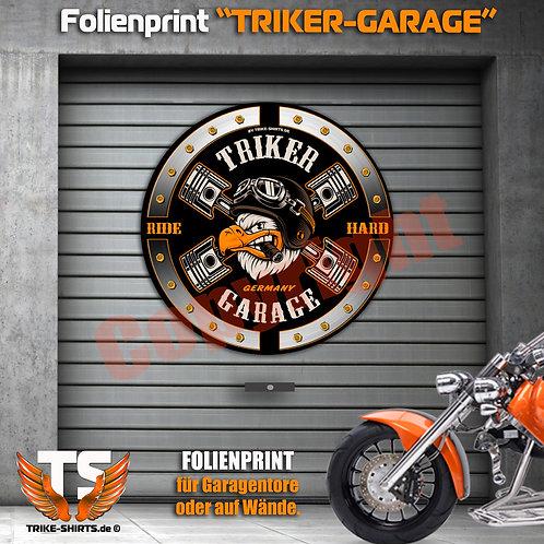 """Garagentorprint (R) """"Eagle Trike Power"""" mit Ort/Land..."""