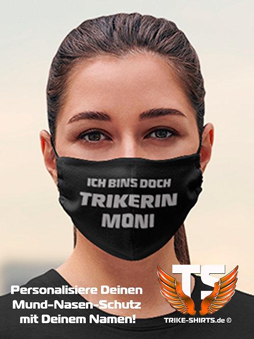 """Mund-Nasen-Schutz  - """"Trikerin Name"""" Ich bin´s doch ... Staffelpreise 1-4 Stück."""