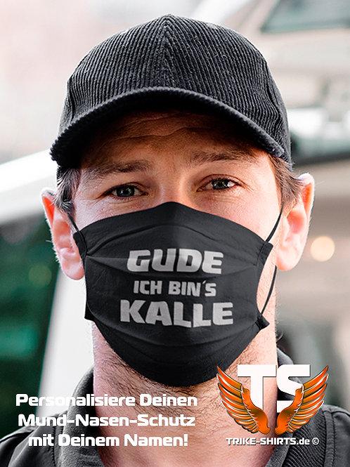 """Mund-Nasen-Schutz  - """"Triker Name"""" Gude... Ich bin´s ... Staffelpreis 1-4."""
