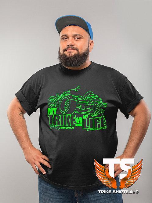 "T-Shirt Comfort - ""My Trike is my Life"" 002 - in 9 Flexfarben"