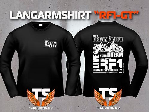 "LA-Shirt Comfort - RF1-GT ""Don´t Dream your Life"" Weißflex"