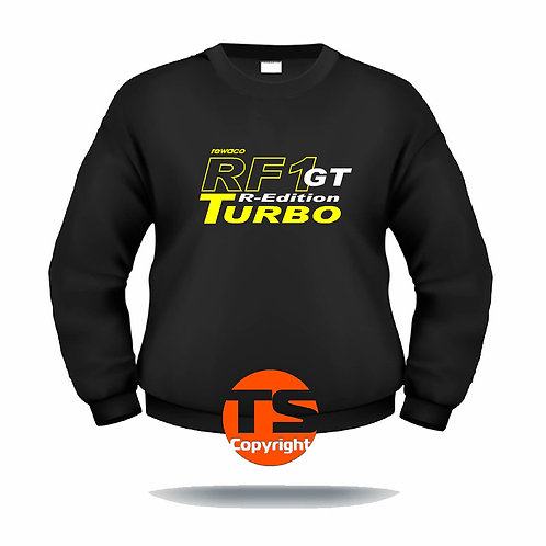 "Sweatshirt Set-In ""RF1 - GT-R-EDITION Turbo-oÄ"" in 8 Flexfarben, 2-farbig"
