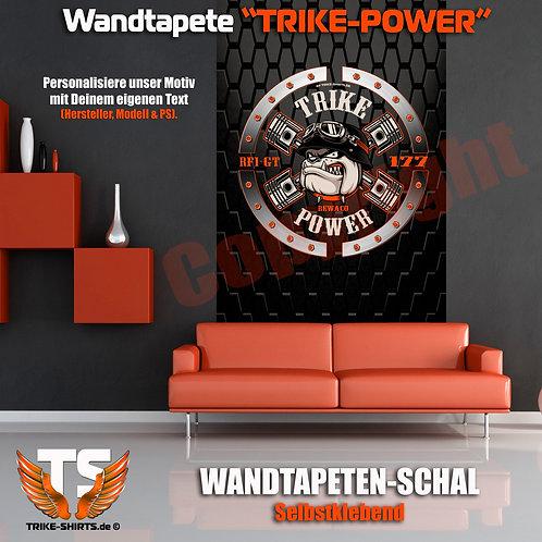 "Wandtapeten-Schal ""Bulldog Trike Power"" mit Hersteller, Modell & PS wählbar"