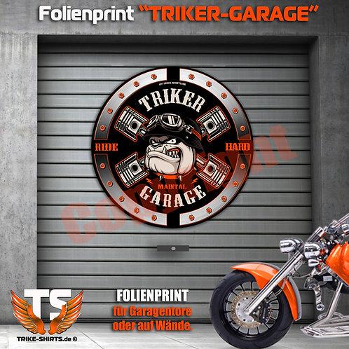 """Garagentorprint (R) """"Bulldog Trike Power"""" mit Ort/Land..."""