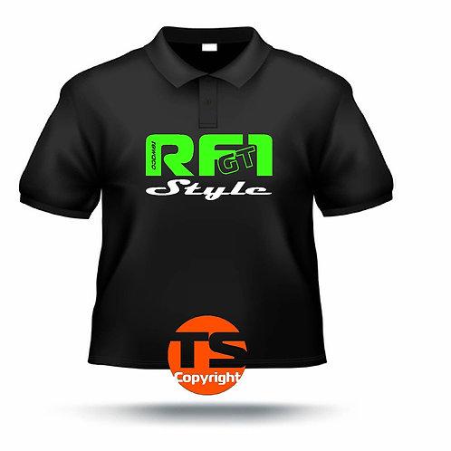 "Poloshirt Pique - ""RF1 - GT-Style"" in 8 Flexfarben, 2-farbig"