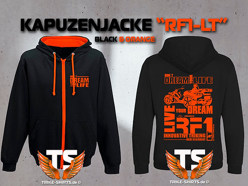 "Sweat Jacket Varsity - RF1-LT ""Don´t Dream your Life"" Orangeflex"