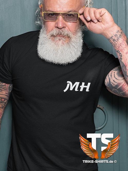 """3er Set - T-Shirt Comfort - """"Mit Deinen Initialen""""  in 7 Flexfarben"""