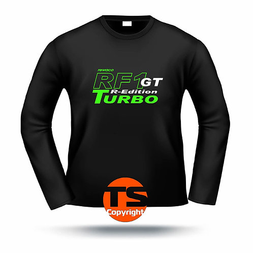"LA-Shirt Comfort  - ""RF1 - GT-R-Edition Turbo-oÄ"" in 8 Flexfarben, 2-farbig"