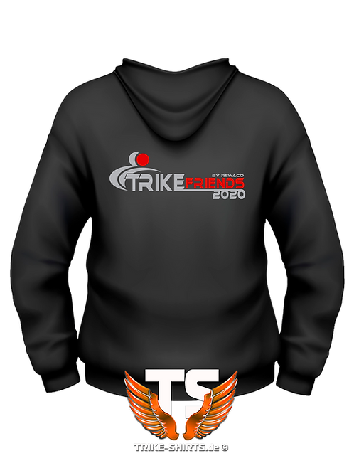 "Sweat Jacket Active - ""Trikefriends 2020"" - 2-farbig"