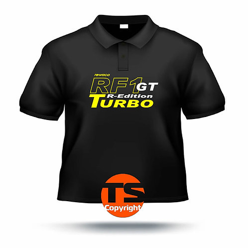 "Poloshirt Pique - ""RF1 - GT-R-Edition Turbo"" in 8 Flexfarben, 2-farbig"