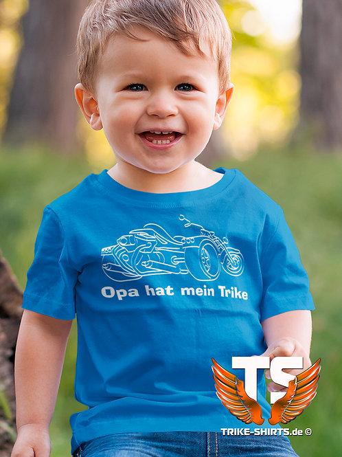 "T-Shirt Classic Kids - ""Opa hat mein Trike"" in 8 Textilfarben"