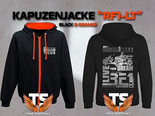 """Sweat Jacket Varsity - RF1-LT """"Don´t Dream your Life"""" Silberflex"""