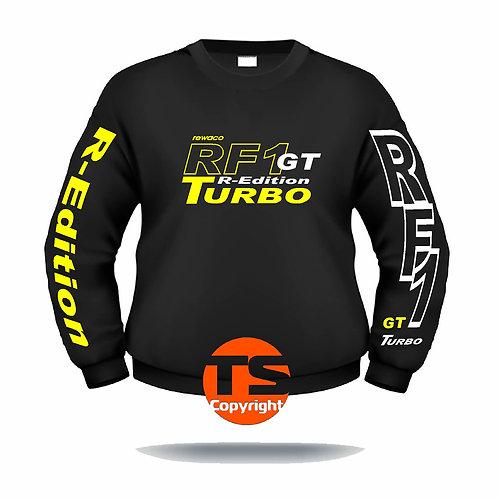"""Sweatshirt Set-In """"RF1 - GT-R-EDITION"""" in 8 Flexfarben, 2-farbig"""