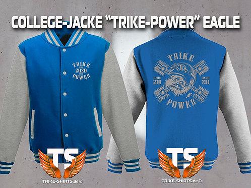 """College-Jacke EAGLE """"TRIKE POWER"""" RIDE HARD 2020"""" in 6 Farben, Silberflex"""