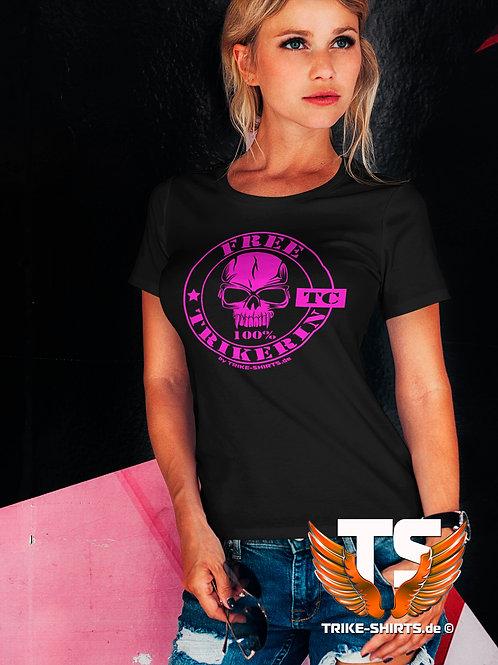 "T-Shirt Comfort - ""FREE TRIKERIN""  in 9 Flexfarben"